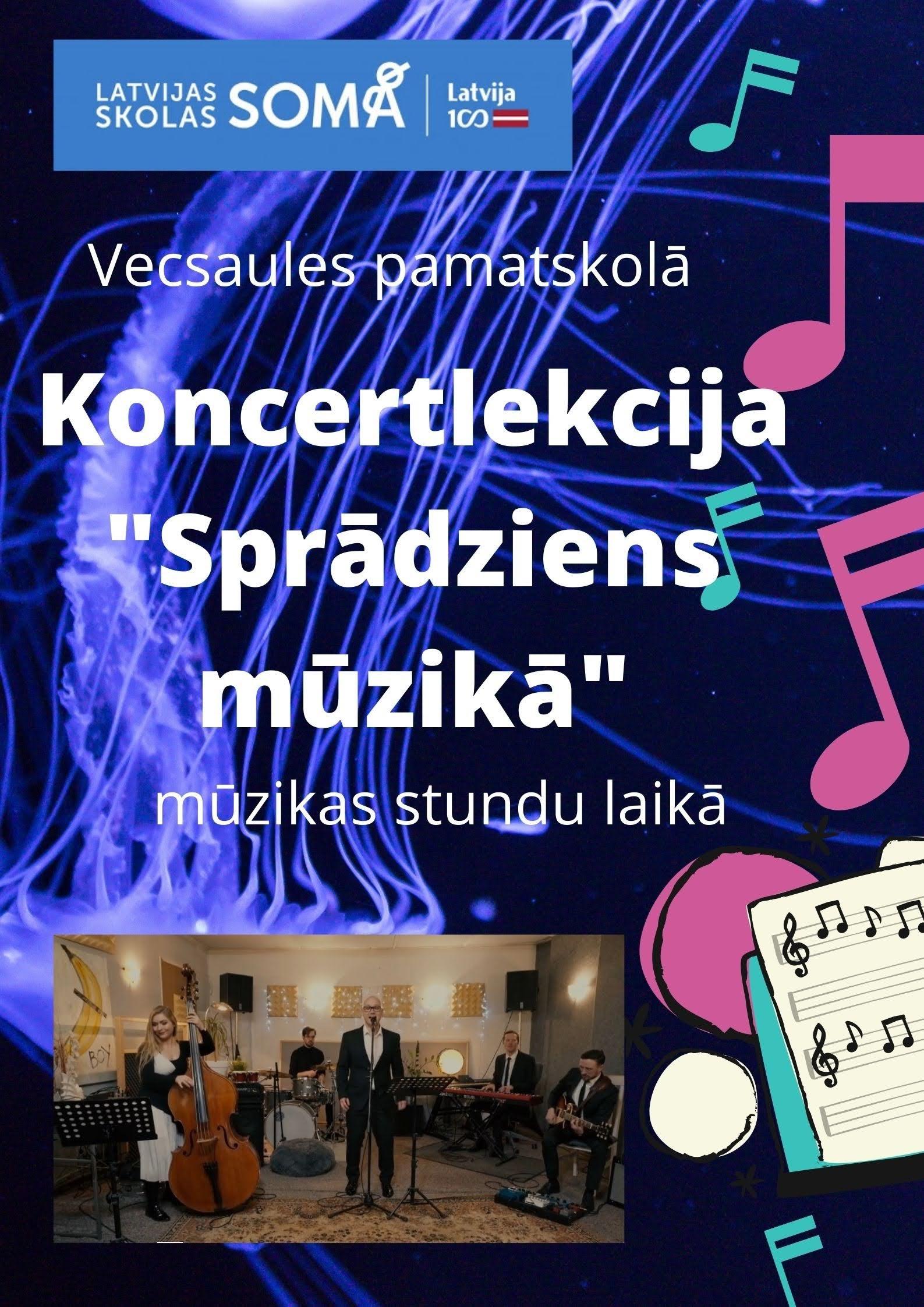 Vecsaules pamatskolas mūzikas stundā notiks koncertlekcija ''Sprādziens mūzikā''