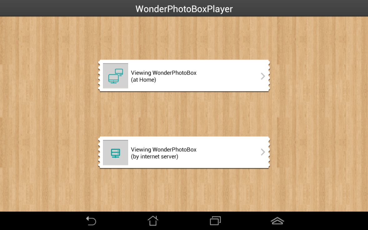 WonderPhotoBoxPlayer- screenshot