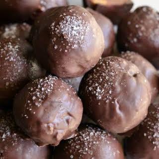 Salted Almond Fudge Truffles.