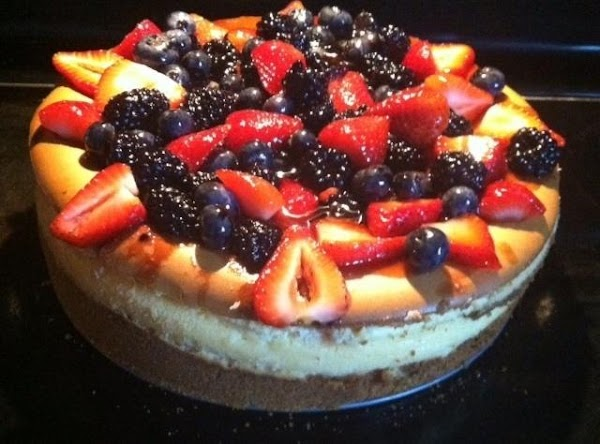 remove cake and place on a rack to cool. Make the topping. Heat and...