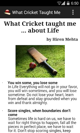 What Cricket Taught Me