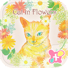 Cat in Flowers for[+]HOME icon