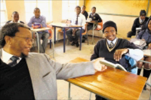 17 JUNE 2009 MMO --  Khabisi Mosunkutu during MEC Barbara Chris  visited  Meadowlands Secondary scholl in soweto . MOHAU MOFOKENG