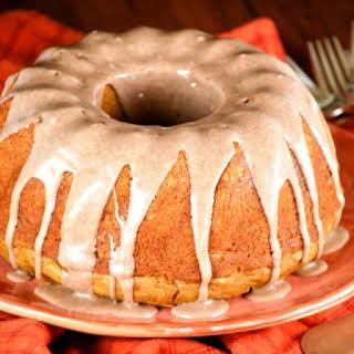 Pumpkin Cake with Cinnamon Glaze.