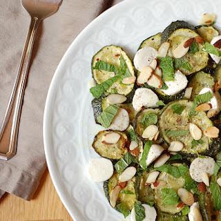 Roasted Zucchini Mozzarella Salad