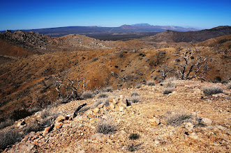 Photo: This is a mountain top view across the basin and range to the Sierra escarpment.