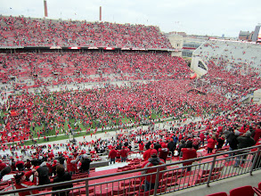 Photo: The scene after taking down Michigan (for the 10th time in 12 games)