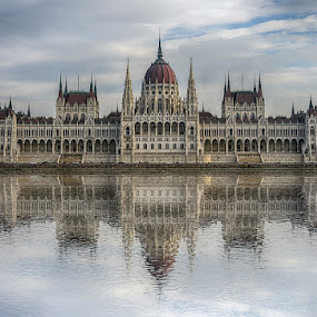 Budapest Parliament by Katherine Rynor - Buildings & Architecture Public & Historical ( parliament, reflection, budapest, danube, river,  )