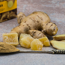 Ginger by Helen Nickisson - Food & Drink Ingredients ( sliced, ginger, candied, whole, powder, fresh )
