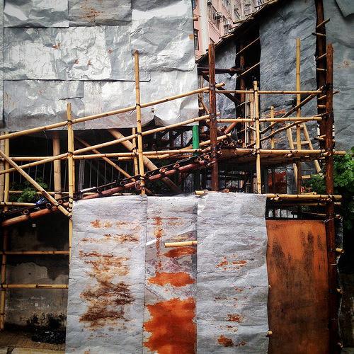 Bamboo, Theater, Back Stair, 戲棚, 竹, hong kong, temporary,  香港