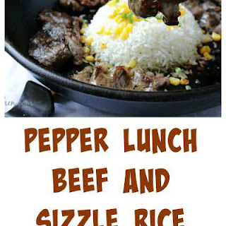 Pepper Lunch Steak and Rice Sizzle.