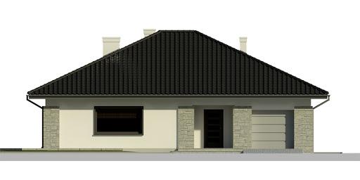 Dom przy Słonecznej 5 - Elewacja przednia