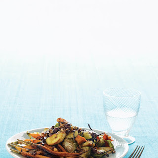 Roasted Brussels Sprouts Medley with Nori Strips