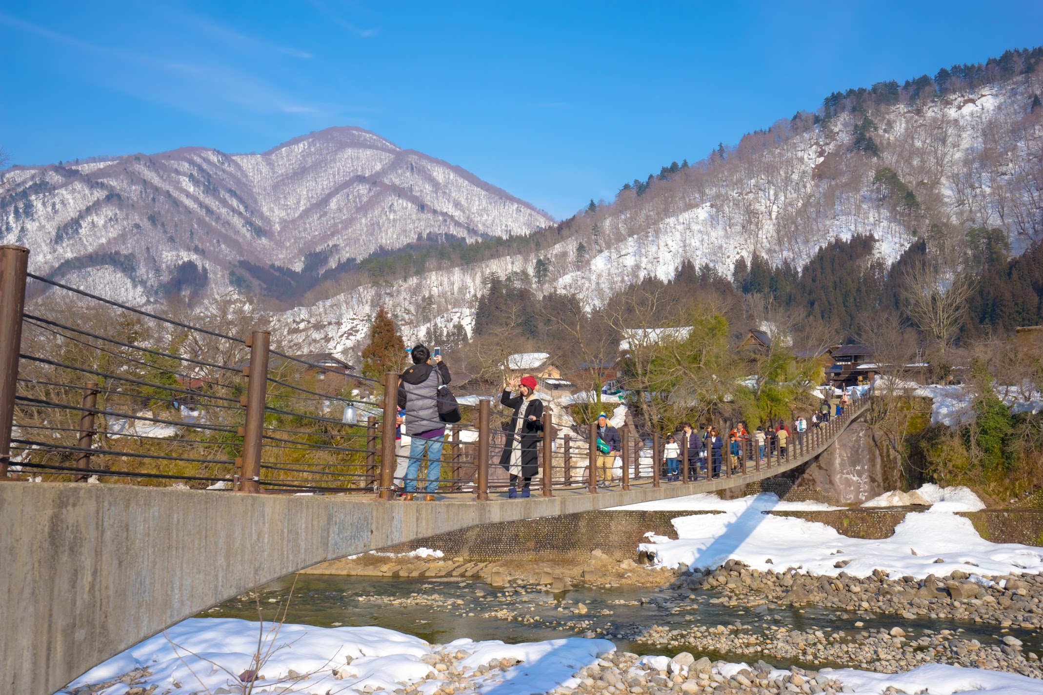 Shirakawa-go Suspension bridge2