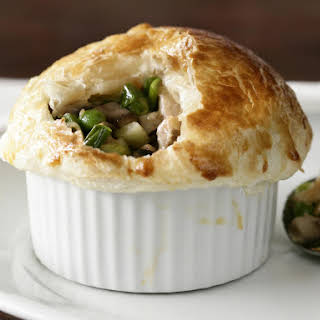 Baked Chicken and Mushroom Pies.