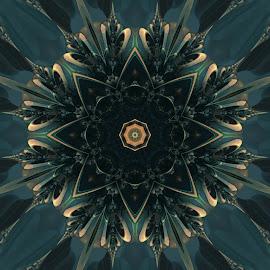 Fractal Bloom by Ricky Jarnagin - Illustration Abstract & Patterns ( kaleider, mandelbulb, fractal, geometric, abstract )