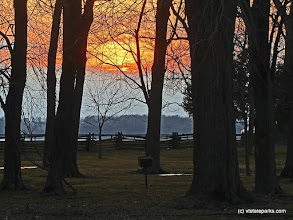 Photo: A spring sunset at Sand Bar State Park by Tina Greco Valentinetti.