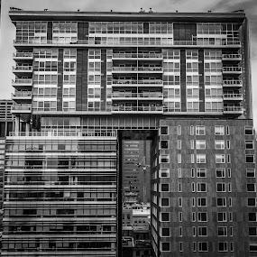 Hotel Le Germain, Calgary, Alberta  by David Kotsibie - Buildings & Architecture Office Buildings & Hotels ( office, building, b&w, canada, calgary, glass, architecture,  )