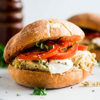 Slow Cooker Chicken Pesto Sandwiches