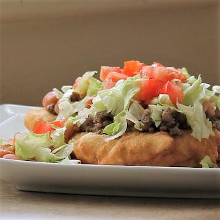"American Indian Fry Bread ""Taco""."