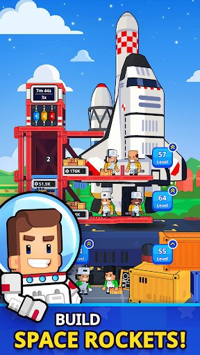 Rocket Star - Idle Space Factory Tycoon Game android2mod screenshots 1