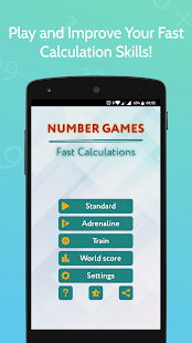 Number Games - Fast Calculations for PC-Windows 7,8,10 and Mac apk screenshot 1