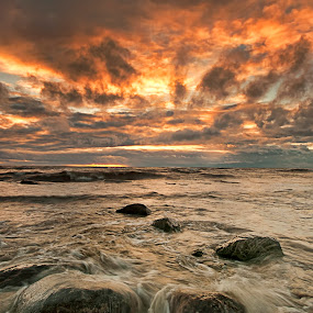 Wave by Carl Chalupa - Landscapes Waterscapes ( lake ontario, clouds, water, lake,  )