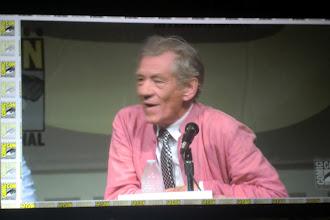 Photo: Saturday - The Hobbit panel; star Sir Ian McKellen