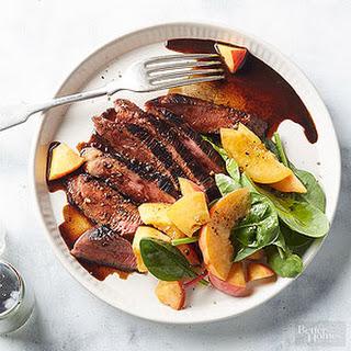 Steak with Spicy Balsamic Glaze.