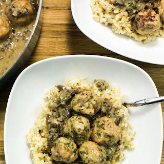 Turkey Meatballs in Creamy Mushroom Gravy Recipe