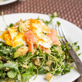 Breakfast Quinoa Salad with Eggs and Smoked Salmon {Gluten-Free, Dairy-Free}.