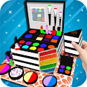 Cosmetic Box Cake Maker 3D! Makeup Cake Cooking icon