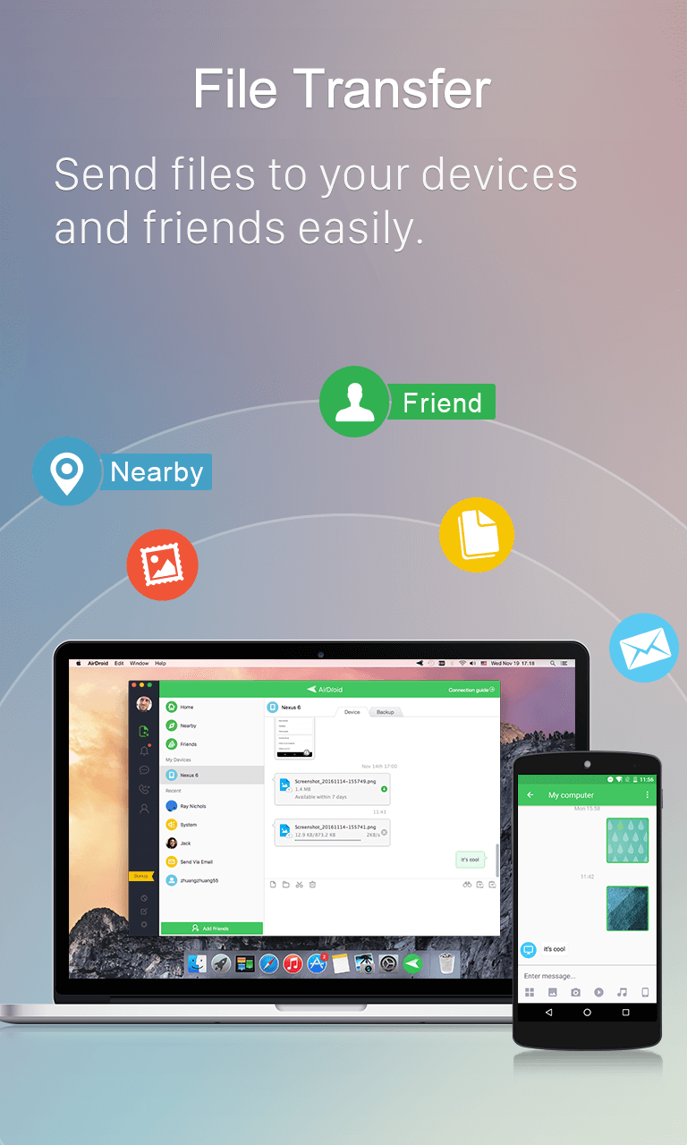 AirDroid: Remote access & File Screenshot 1