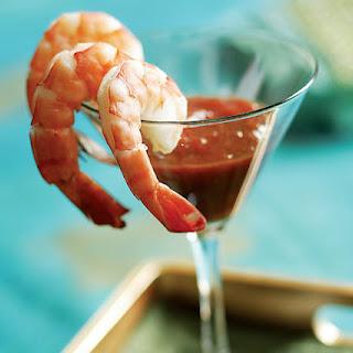 Lemon Poached Shrimp Cocktail.