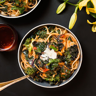 Kale Pasta Italian - Inspired Meals for Spring with Bertolli Pasta Sauce.