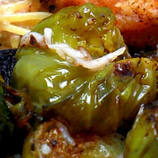 Pan-Seared Brussel Sprouts with Balsamic Vinegar