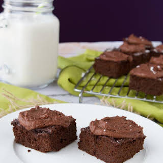 Freedom Brownies With Fudge Frosting.