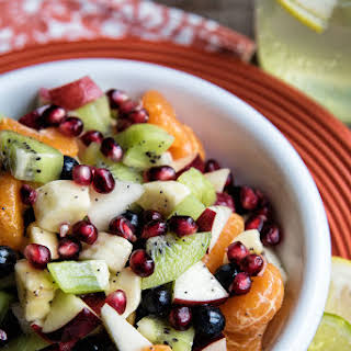 Fruit Salad With Lemon Dressing.