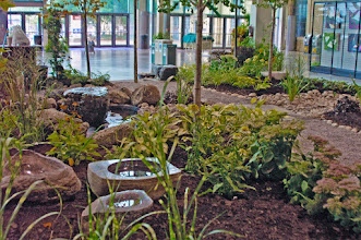 Photo: Another one of our gardens at the CNE, created to show the visitors the beauty of landscaping. Note the carved stone bowls.