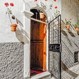 Open Door by Richard Michael Lingo - Buildings & Architecture Architectural Detail ( door, buildings, exterior, details, architecture )