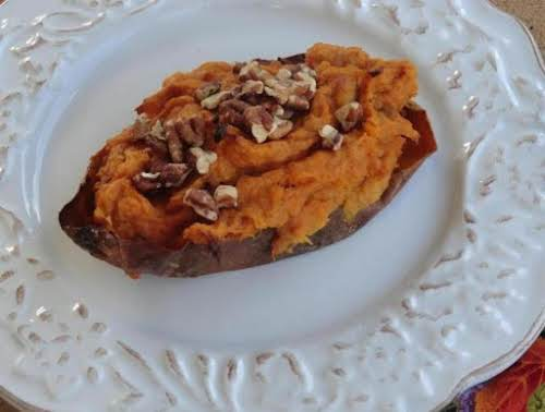 "Thanksgiving Twice Baked Pumpkin-Sweet Potatoes ""These potatoes were yumminess in our bellies...."