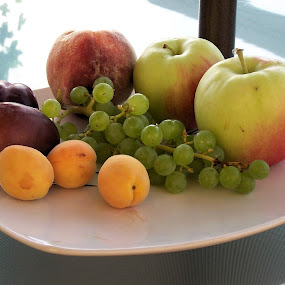 Wild Fruit by Sean Leland - Food & Drink Fruits & Vegetables ( wild fruit, grapes, plums, plate, apples, vernon, british columbia, apricots,  )