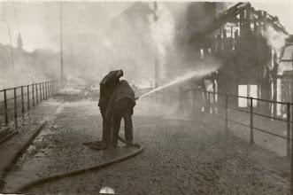 Photo: Brannen på Broene 27 mai 1936. Tatt fra Kanalbroen