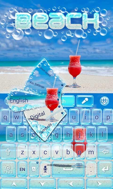 Beach-GO-Keyboard-Theme 9