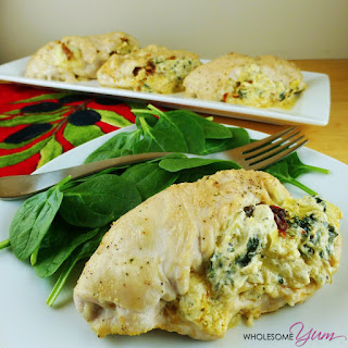 Spinach Artichoke Stuffed Chicken (Gluten-free, Low Carb).