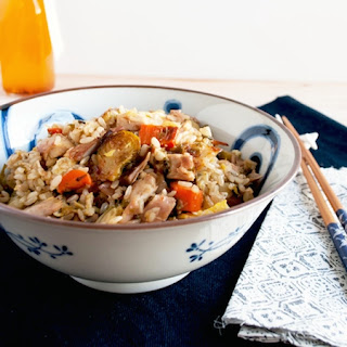 Leftover Turkey Fried Rice