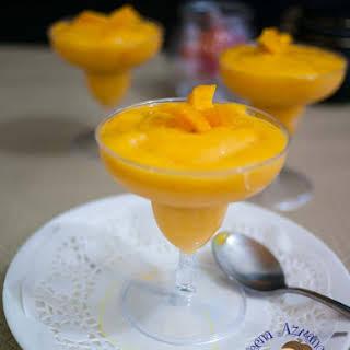 Mango Coconut Cream Mousse.