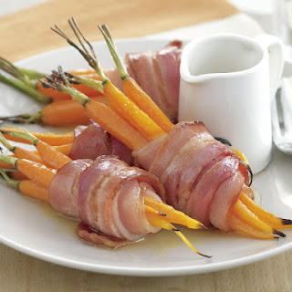 Bacon-Wrapped Carrots with Honey Glaze