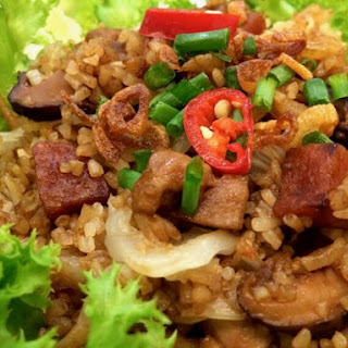 Cantonese Cabbage and Mushroom Rice.