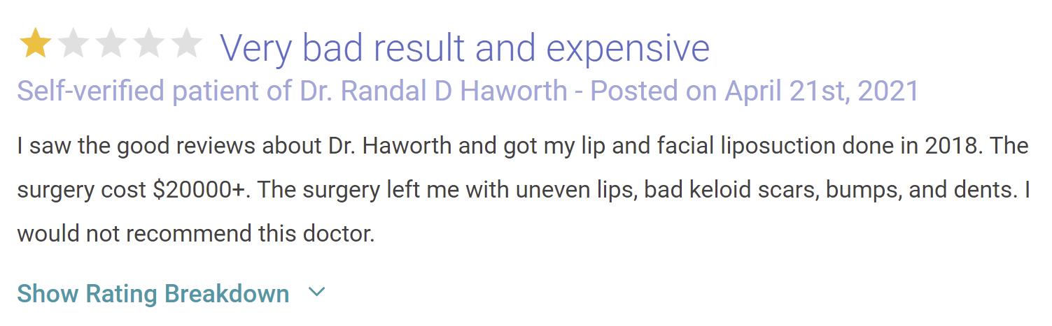 Dr. Randal Haworth scam
